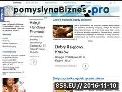 Miniaturka domeny www.pomyslynabiznes.pro