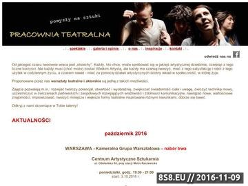 Zrzut strony Warsztaty teatralne i aktorskie Warszawa