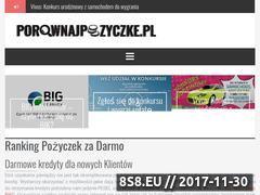 Miniaturka porownajpozyczke.pl (Chwilówki na raty i pożyczki za 0 złotych)