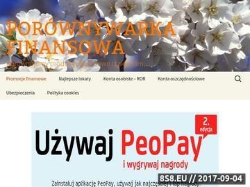 Zrzut strony Porównywarka finansowa - ubezpieczenie OC/AC/NW.