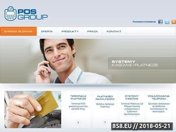 Zrzut strony Terminale płatnicze POS