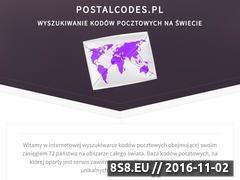 Miniaturka postalcodes.pl (Lokalizator kodów pocztowych)