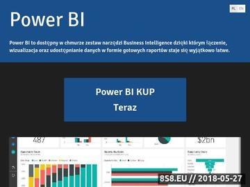 Zrzut strony Oprogramowanie Power BI