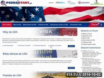Zrzut strony USA - wizy, tanie bilety, podróżowanie po Stanach