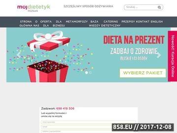 Zrzut strony Dietetyk Poznań - MójDietetyk.pl