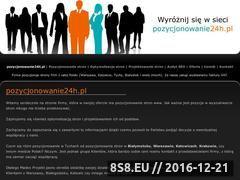 Miniaturka domeny www.pozycjonowanie24h.pl