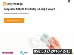 Miniaturka Pożyczka 500 - Pożycz500zł.pl (pozycz500.pl)