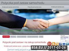 Miniaturka www.pozyczka-pod-zastaw-samochodu.pl (Dzięki nam uzyskasz pożyczkę pod zastaw auta)