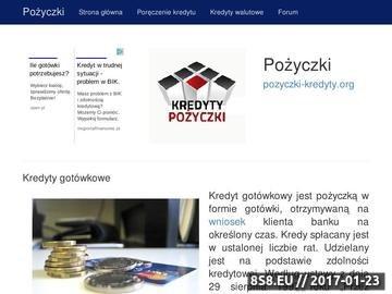 Zrzut strony Opisy pożyczek i kredytów