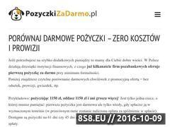 Miniaturka Porównanie darmowych pożyczek chwilówek (pozyczkizadarmo.pl)