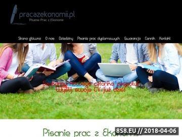 Zrzut strony Pomoc w pisaniu pracy magisterskiej - pracazekonomii.pl