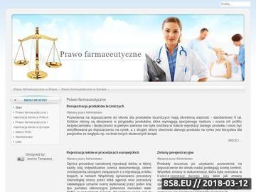 Zrzut strony Prawo farmaceutyczne i rejestracja leków