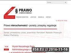 Miniaturka Blog dotyczący zagadnień prawa nieruchomości (prawoanieruchomosci.pl)
