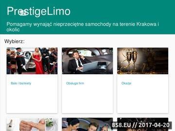 Zrzut strony Limuzyny Prestige Limo Kraków