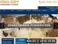 Miniaturka domeny www.pro-dry.pl