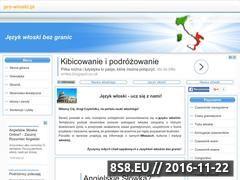 Miniaturka www.pro-wloski.pl (Darmowe materiały edukacyjne do nauki włoskiego)