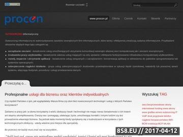 Zrzut strony PROCON - konsulting z zakresu Zarządzania Ciągłością Działania (BCM)