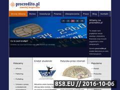 Miniaturka procredito.pl (Informacje finansowe)
