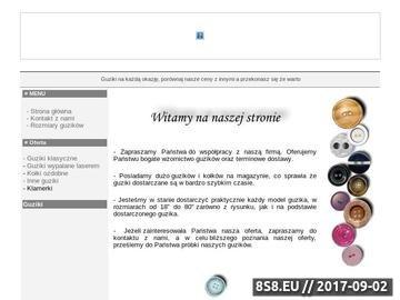 Zrzut strony GUZIKI - Producent Guzików, Importer Guzików, Hurtownia guzików