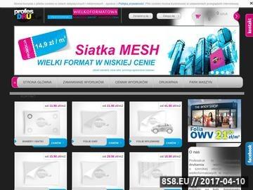 Zrzut strony Profesdruk.pl internetowa drukarnia wielkoformatowa