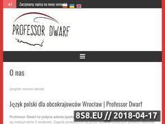 Miniaturka professordwarf.pl (Nauka języka polskiego i szkoła językowa)