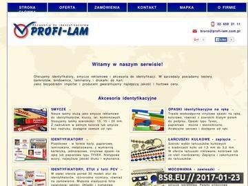 Zrzut strony Smycze Reklamowe i Identyfikatory - Opaski na rękę i Testery banknotów