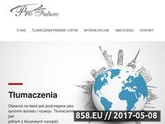 Miniaturka profuturo-warsaw.com (Tłumaczenia ekspresowe, symultaniczne i pisemne)