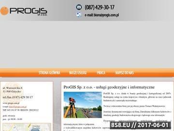 Zrzut strony Progis s.c. Geodezja Giżycko