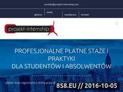 Miniaturka www.projekt-internship.com (Staże i praktyki zagraniczne, szkolenia - języki)