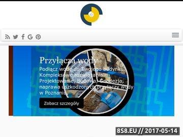 Zrzut strony Przyłącze wody i kanalizacji: projekt, wykonanie - Poznań