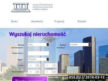 Zrzut strony Agencja Nieruchomości PROLOKUM w Katowicach. Nieruchomości na Śląsku, Katowice