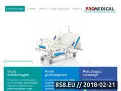 Miniaturka promedical.com.pl (Wózki medyczne wielofunkcyjne)
