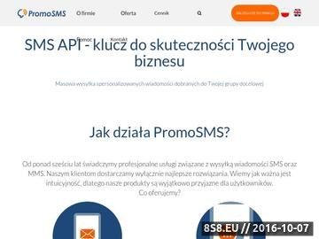 Zrzut strony Usługi i oprogramowanie związane z mobile marketingiem