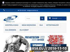 Miniaturka domeny pronutrition.pl