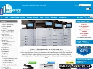 Zrzut strony ProOffice Wrocław Tonery, Tusze, Atramenty