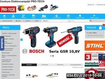 Zrzut strony Elektronarzędzia PRO-TECH, wiertarki Bosch, Metabo, Makita, Festool, Protool