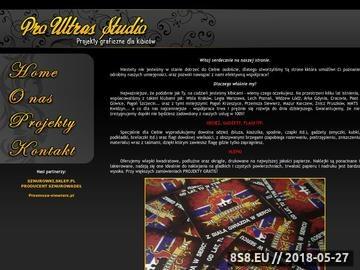 Zrzut strony PRO ULTRAS STUDIO - Projekty vlepek, szalików, flag.