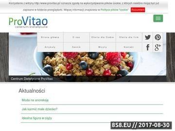 Zrzut strony Dietetyk - Centrum Dietetyczne Pro Vitao
