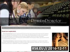 Miniaturka domeny www.prywatnypromotor.pl