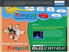 Miniaturka domeny www.przedszkolepromyczek.eu