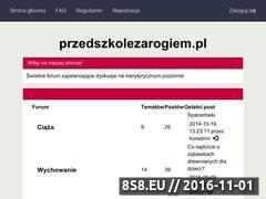 Miniaturka domeny www.przedszkolezarogiem.pl