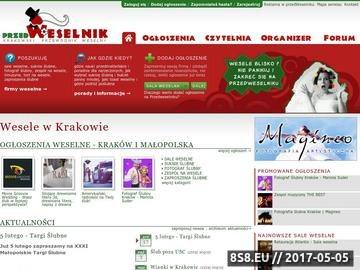 Zrzut strony Ślub i wesele Kraków i Małopolska
