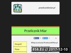 Miniaturka przelicznikmiar.pl (Przelicznik miar)