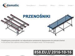 Miniaturka domeny www.przenosniki-damatic.pl