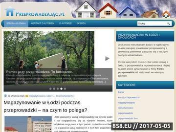 Zrzut strony Przeprowadzajac.pl - serwis o przeprowadzkach biur i mieszkań