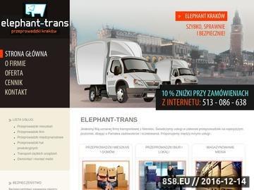 Zrzut strony Przeprowadzki w Krakowie przeprowadzki Kraków - firma Elephant-Trans