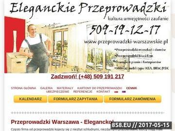 Zrzut strony Eleganckie Przeprowadzki - Przeprowadzki Warszawa