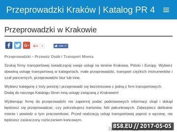 Zrzut strony Tanie przeprowadzki w Krakowie