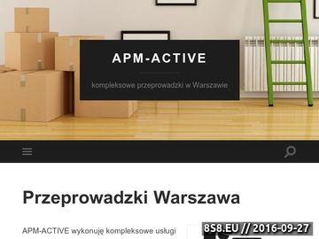 Zrzut strony Przeprowadzki w Warszawie, kraju i UE