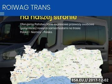 Zrzut strony Minibus Polska Niemcy